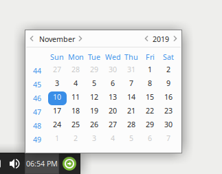 This is the calendar popup