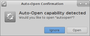 Auto-open Confirmation