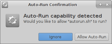 Auto-run Confirmation