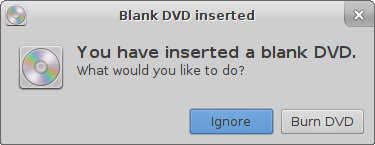 Blank DVD Confirmation