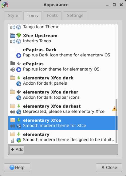 xfce:xfce4-settings:appearance [Xfce Docs]